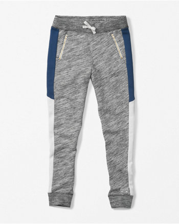 kids zip accent joggers