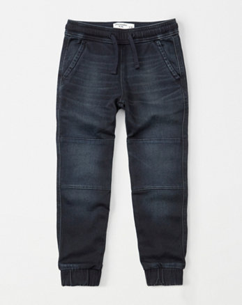 kids denim joggers