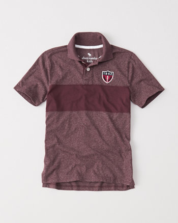 kids chest stripe polo