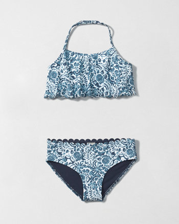kids flounce two piece swimsuit