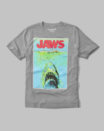 kids jaws graphic tee