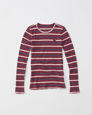 kids long-sleeve rib tee