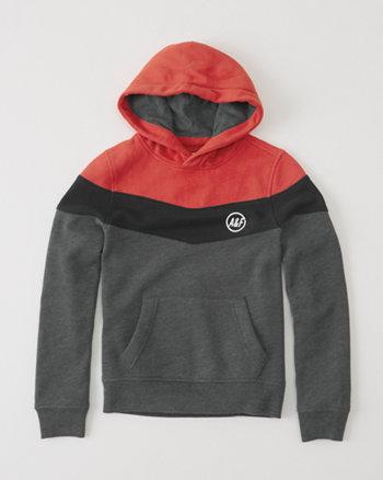 kids colorblocked pullover hoodie