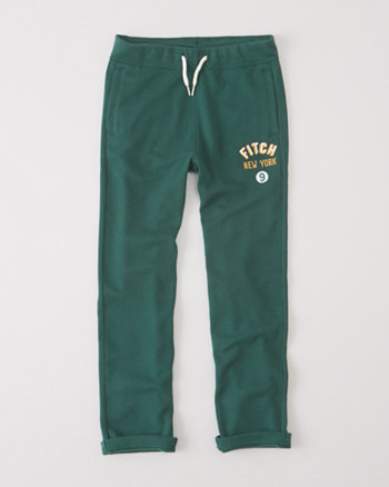kids straight logo sweatpants