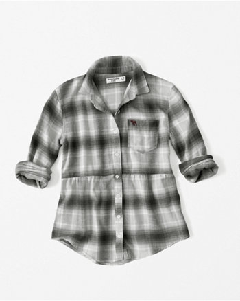kids peplum flannel shirt