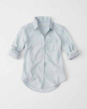kids shine chambray shirt