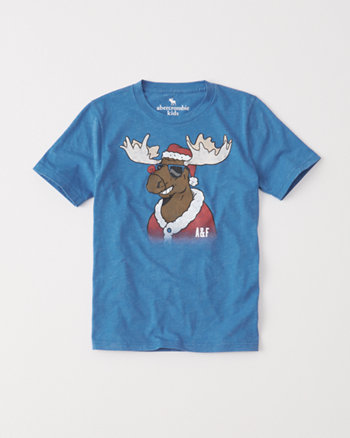 kids graphic holiday tee