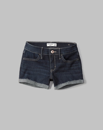 kids a&f shortie denim shorts