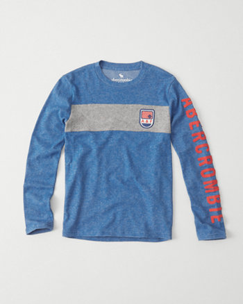 kids long-sleeve cozy graphic tee