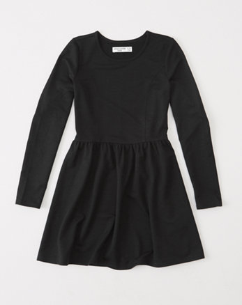 kids long-sleeve skater dress