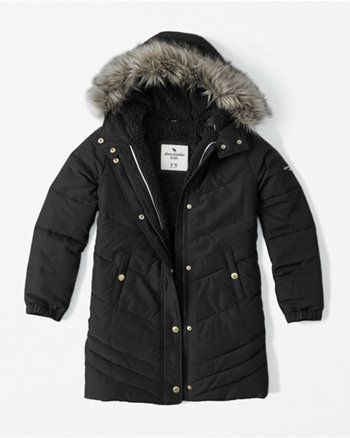 kids sherpa-lined quilted parka