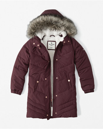 kids sherpa-lined puffer jacket