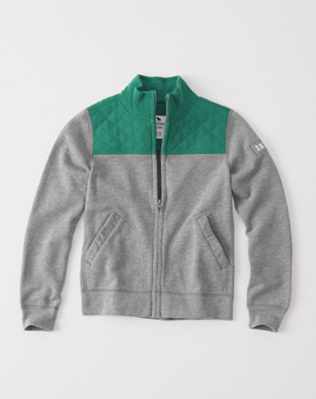 kids quilted colorblocked full-zip sweatshirt