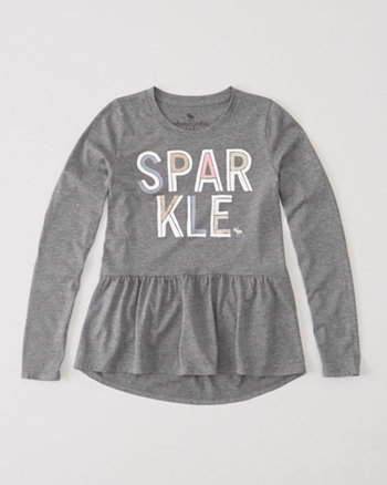 kids peplum graphic tee
