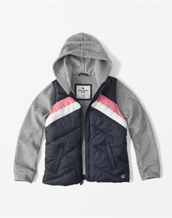 kids fleece twofer jacket