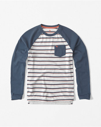 kids printed long-sleeve baseball tee