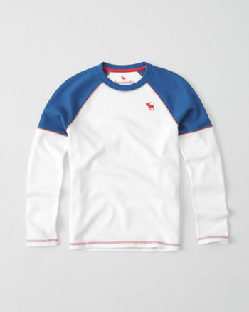 kids icon waffle knit crew tee