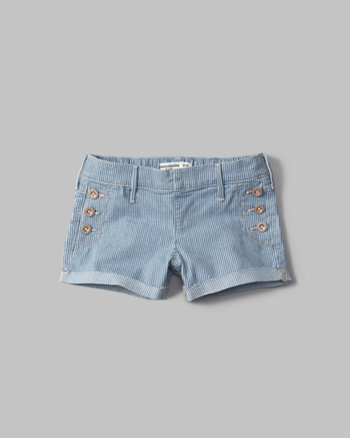 kids railroad shortie shorts