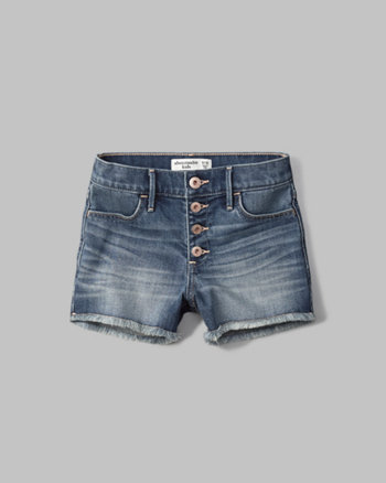 kids high rise denim shorts
