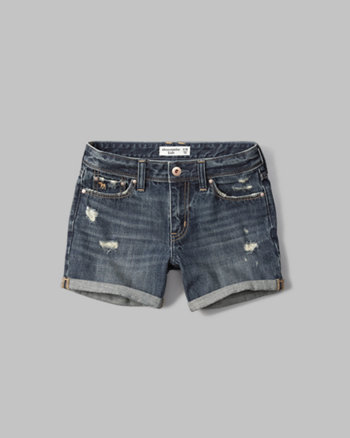 kids a&f girlfriend denim shorts