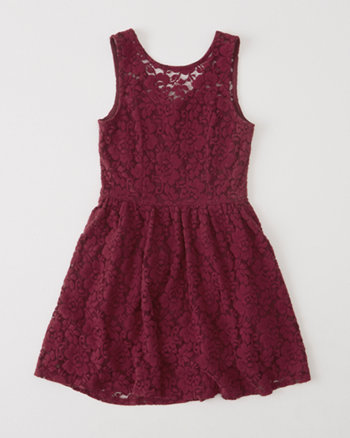 kids lace skater dress