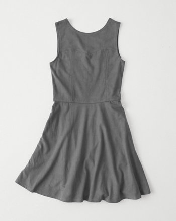 kids faux suede skater dress