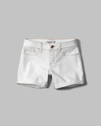 kids a&f denim midi shorts