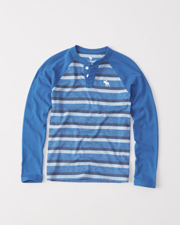 kids striped raglan henley