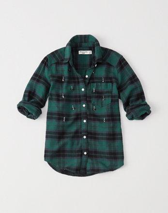 kids shine flannel shirt