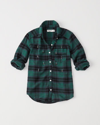 kids shine flannel shirt