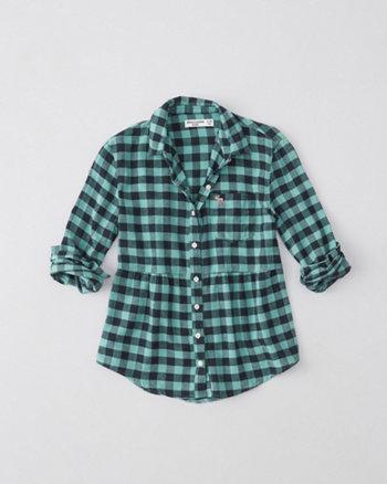 kids peplum flannel shirt