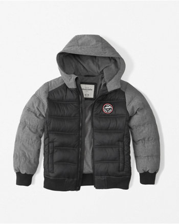kids soft shell puffer jacket