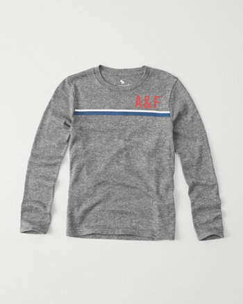 kids long-sleeve snit logo tee