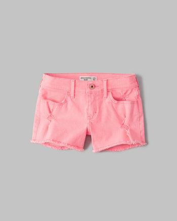 kids a&f denim shortie shorts