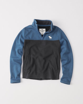 kids polar fleece half-zip pullover