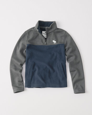 kids winter fleece half-zip pullover