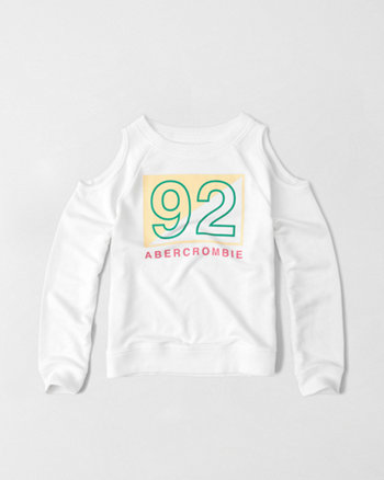 kids cold shoulder crew sweatshirt