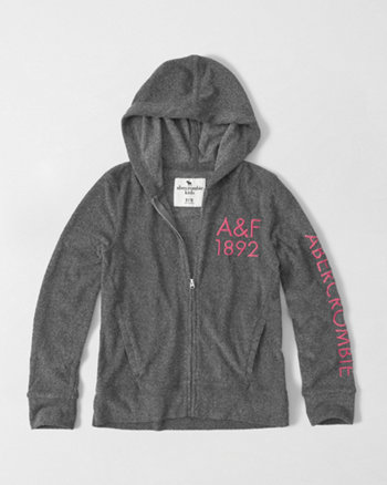 kids terry full-zip hoodie
