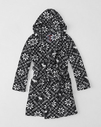 kids patterned robe