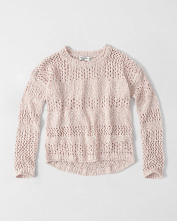 kids open stitch pullover sweater