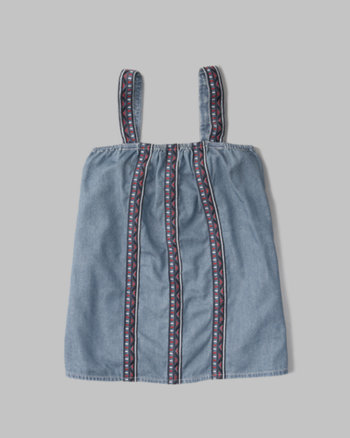 kids embroidered tank