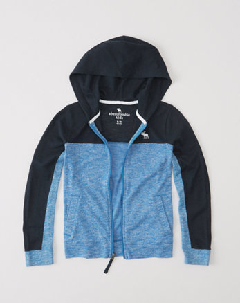 kids full-zip sweater knit hoodie