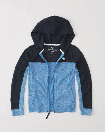kids full-zip sweater knit hoodie
