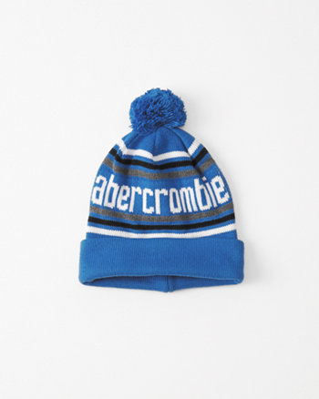 kids graphic knit beanie