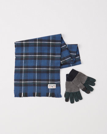 kids scarf and glove set