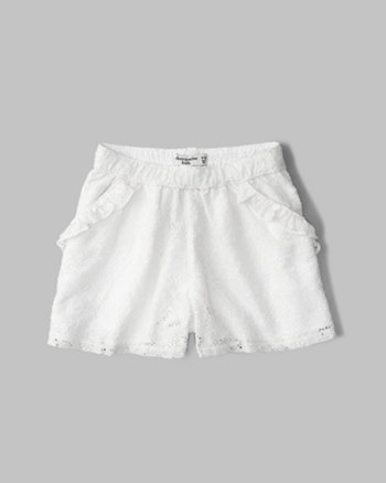 kids lace shorts
