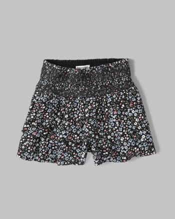 kids printed ruffle shorts