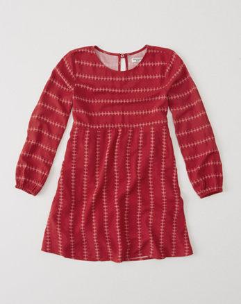 kids patterned babydoll dress