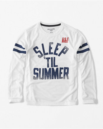kids long-sleeve graphic sleep tee