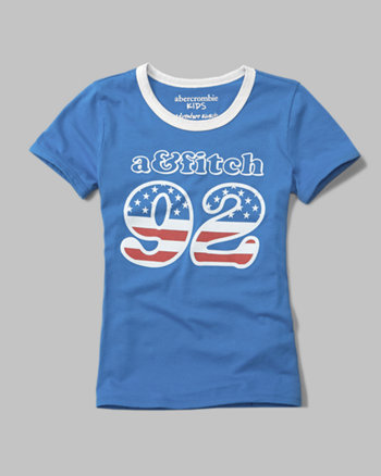 kids USA graphic tee